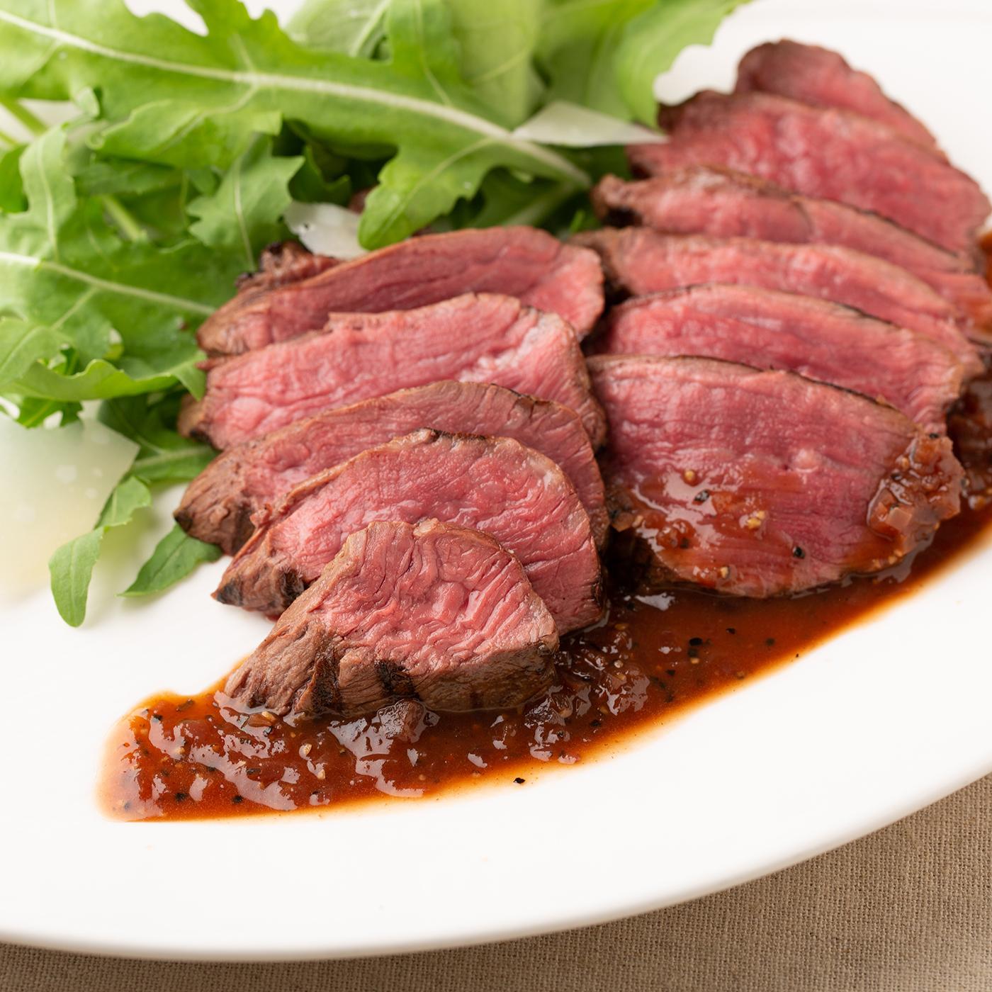 牛ハラミのステーキ ブラックペッパーソース1,980円